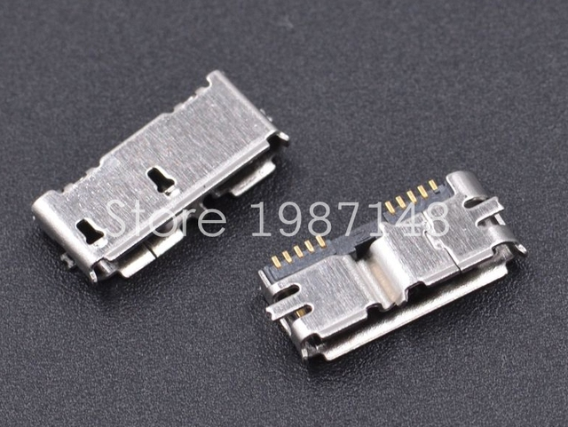 50pcs Micro Usb 30 B Type Smt Female Socket Smd2 10pin Usb Connector For Mobile Hard Disk Drives Data Interface In Connectors From Lights Lighting