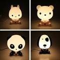 Desk Night Lights Baby Room Panda/Rabbit/Dog/Bear Cartoon Night Light Kids Bed Lamp Sleeping Night Lamp Table Lamp With Bulb