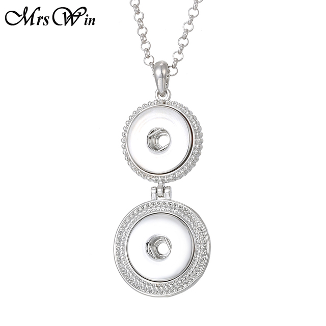 Snap Jewelry Necklace Round...