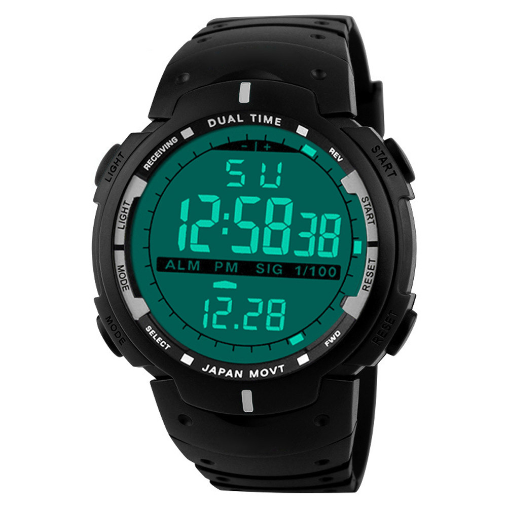 Sport Watches 2019 Men Watch Waterproof LED Digital Watch Male Clock LED Digital Date Military Sport Rubber Quartz Watch 5.13