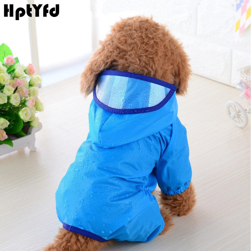 Dog Pet RainCoat Vanntett Klær Jumpsuit Klær til Små Hunder Utendørs Breathable Hoody Jacket Chihuahua Yorkie Raincoat