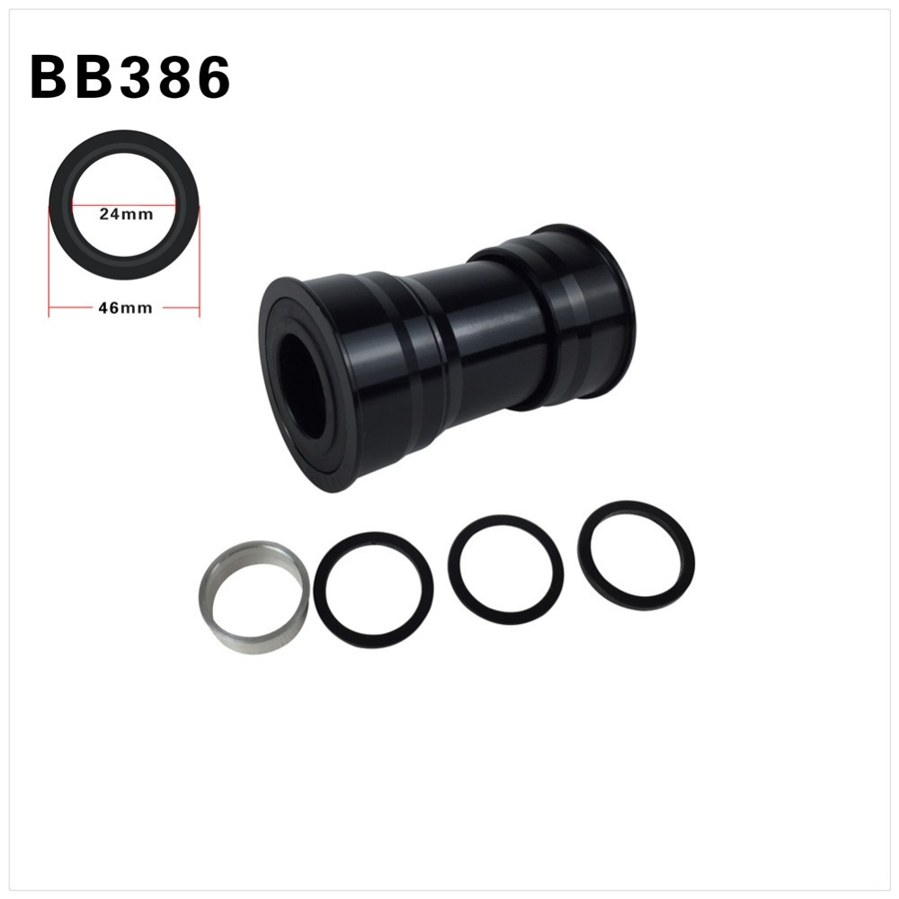 Spcycle BB386 24mm Bottom Bracket Shell 86*46mm Press Fit Bottom Brackets For SHIMANO 24mm SRAM 22mm Crankset MTB Road Bike Part ztto bsa30 bb68 bsa 68 73 mtb road bike external bearing bottom brackets for bb rotor raceface slk bb386 30mm crankset
