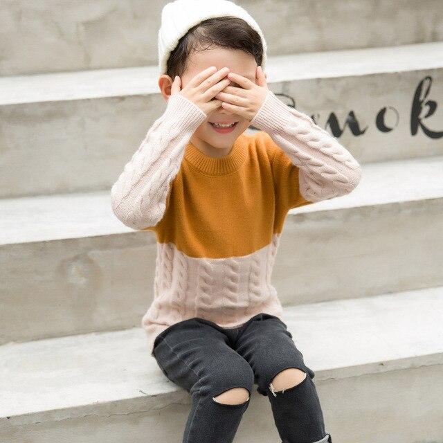 1701c4b75ac2 3D Pattern Autumn Cotton Knit Boys Sweaters Kid Cardigans O Neck ...