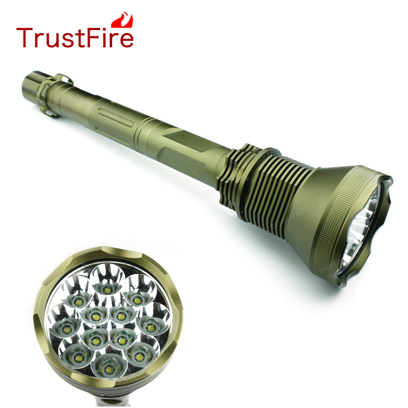 TrustFire AK-90 12*XML-T6 LED Flashlights 13000 Lumen 5-Mode Torch Light For Hunting/Cycling/Climbing/Camping/Night Walking replacement clicky switch for trustfire x6 flashlights black