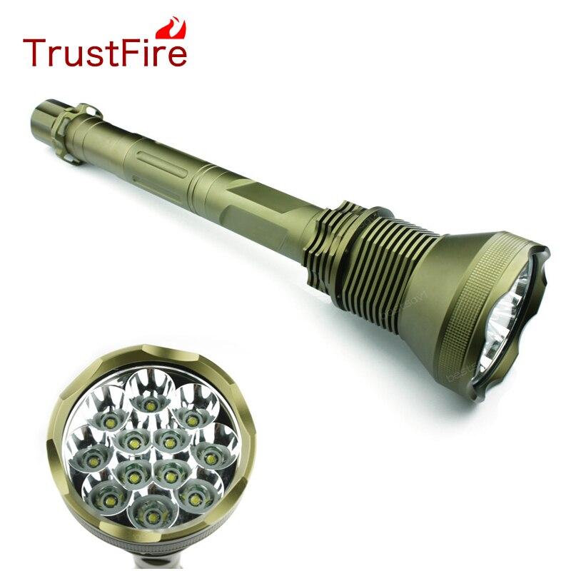 TrustFire AK-90 12*XML-T6 LED Flashlights 13000 Lumen 5-Mode Torch Light For Hunting/Cycling/Climbing/Camping/Night Walking