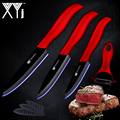 XYj Ceramic Kitchen Cooking Knife Accessories Paring Utility Slicing Knife + Peeler Kitchen Knives Cooking Tools Accessories