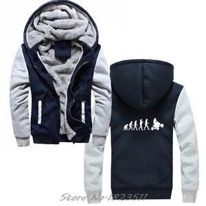 Image 3 - Erkekler kalın kapüşonlu Sweatshirt evrim dört hoodie dörtlü Off Road bisiklet sıkıntılı hoodies Hip Hop Hoody ceket Tops