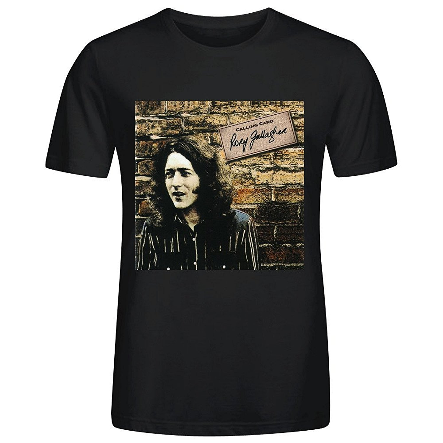 Shirt design card - For Man Hipster O Neck Causal Cool Tops Rory Gallagher Calling Card T Shirts Design O Neck
