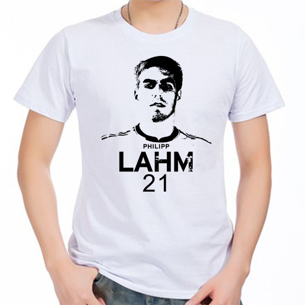 low priced 124e1 8e7e4 US $13.29 5% OFF|Men's Short sleeve t shirt Philipp Lahm Munchen Germany  100% cotton tshirt jersey-in T-Shirts from Men's Clothing on Aliexpress.com  | ...