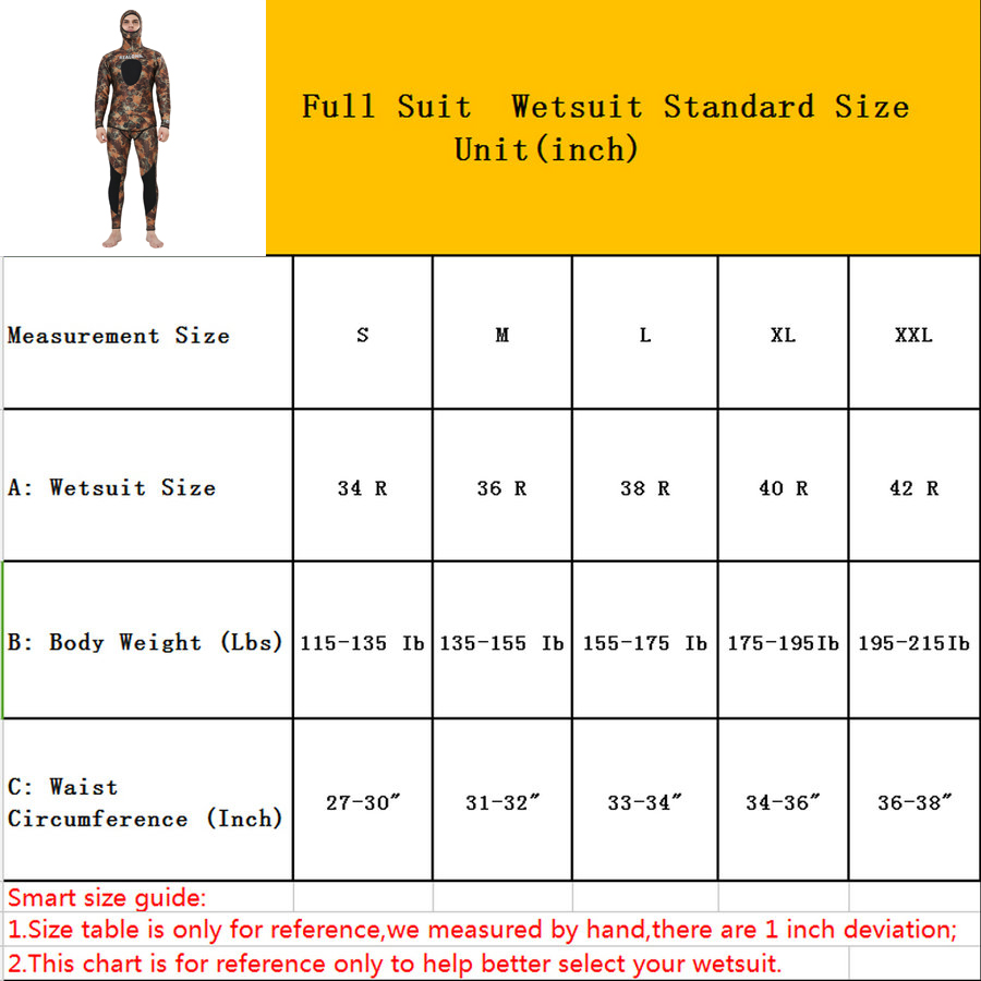 REALON Wetsuit 5mm Neoprene Camo Spearfishing Scuba Diving Suit for - Sportswear and Accessories - Photo 2