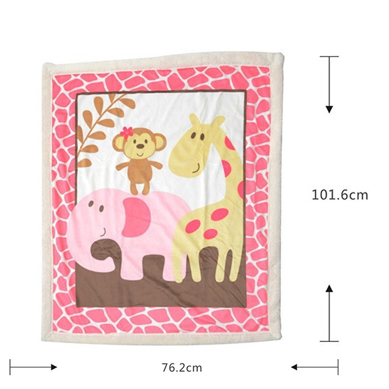 Super Soft Fleece Baby Blanket Winter Cartoon Pattern Newborn Swaddle Wrap Blanket & Swaddling (3)