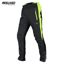 ARSUXEO Men's Winter Cycling Pants Warm Up Thermal Fleece Trousers Outdoor Sports MTB Bike Bicycle Pant Windproof Waterproof 14A цена и фото