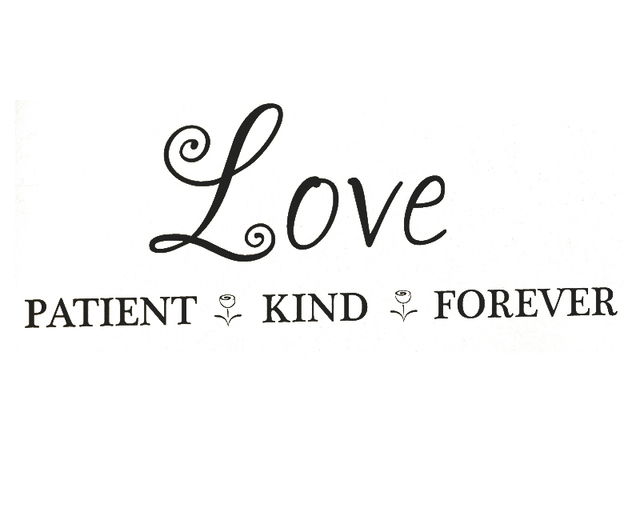 Love Is Patient Love Is Kind Quote Beauteous Wall Decal Sticker Quote Vinyl Art Large Graphic Love Patient