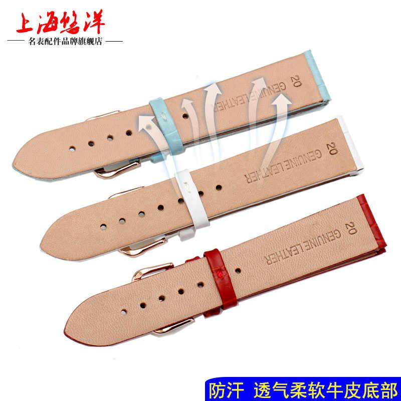 Kualitas Tinggi Ultra Tipis Asli Kulit untuk Pria Wanita Universal Cocok untuk CK 12 Mm 16 Mm 18 MM 20 Mm Watchband