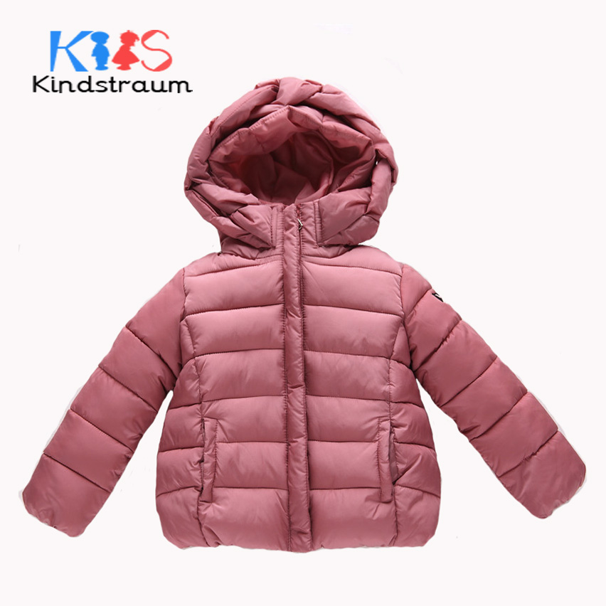 Kindstraum 2017 New Fashion Girls Winter Coat Cotton Brand Solid Style Warm Jacket Hooded Girls Quality Children Outwear, MC858 kindstraum 2017 fashion kids winter jacket cotton new boys girls warm hooded coat children casual dinosaur outwear printed mc802
