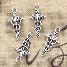 Charms Jewelry Medical Symbol Md Caduceus Silver-Color Pendant-Fit Antique-Making Tibetan