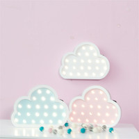 Personality Wooden Cloud LED Neon Sign Baby S Room Wall Decorations Best Gifts For Kids Decor