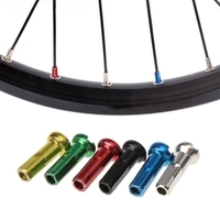 50 Pcs Bicycle Spoke Cap Colorful 14mnm Decorative Iron Copper MTB Bike Parts  DNG7