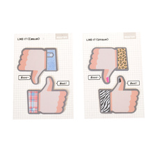 Новий симпатичний палець Пам'ятна Папка Sticky Note Kawaii Папір Scrapbooking Наклейки Pad Новинки Пункти Канцтовари
