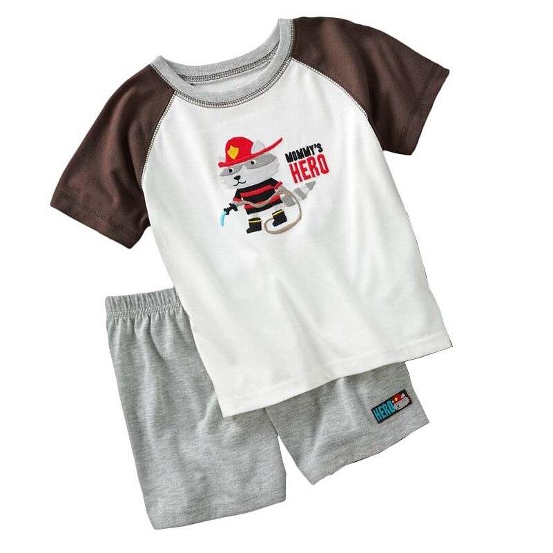 e641c963e 2018 Summer Baby Boys Clothes Sets Fireman Raccoon Children Clothing ...
