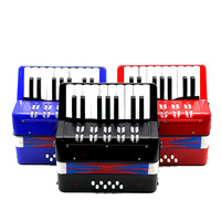 Kids Children 17 Key 8 Bass Mini Small Accordion Educational Musical Instrument Rhythm Band Toy
