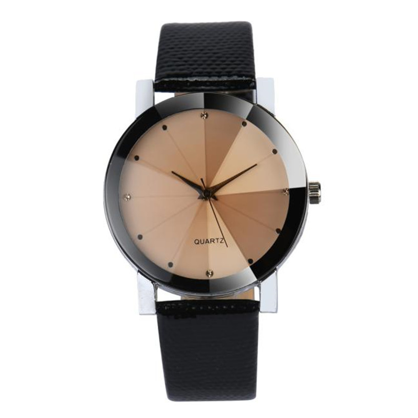 NEW font b Watch b font Men Luxury Quartz Sport Military Stainless Steel Dial Leather Band