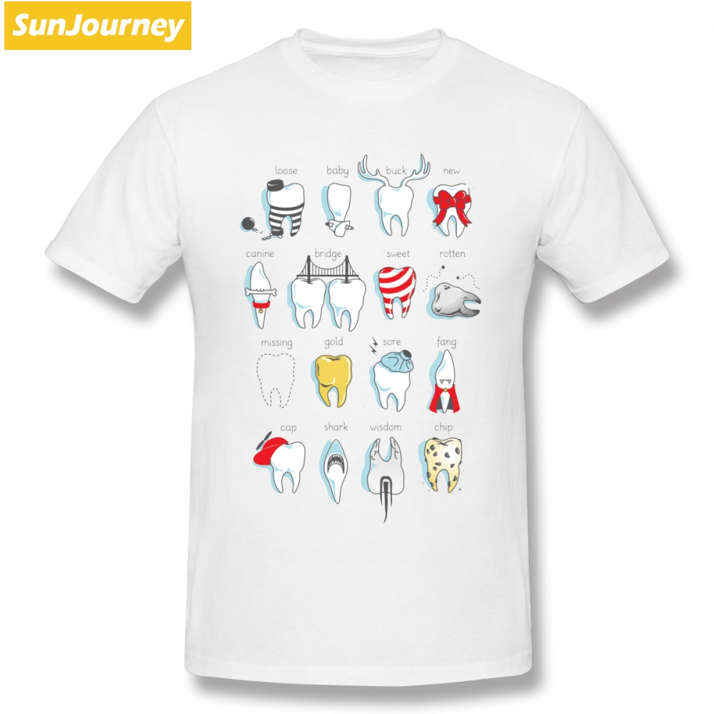 Graphic Men's T Shirts Dental Definitions Short Sleeve Pure Cotton O-neck Big Size T Shirt For Man Tee Shirt