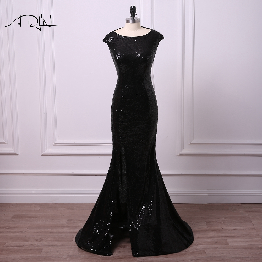 Weilinsha Robe De Soriee Sexy Evening Dresses 2018 Long Side Slit See Through O-neck Gold Beading Crystal Formal Prom Party Gown Weddings & Events