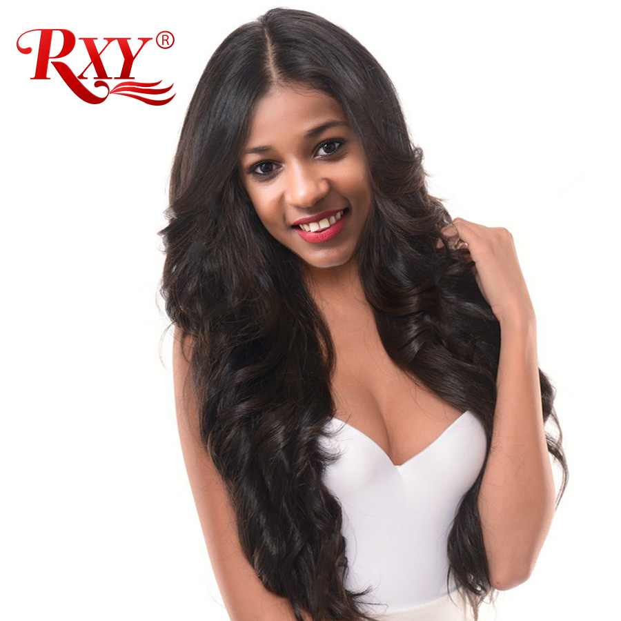 RXY 360 Lace Frontal Paryk Pre Plucked With Baby Hair Lace Front Menneskehår Parykker For Black Women Peruvian Body Wave Lace Parykker Remy