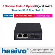 2x1000M RJ45 PoE Ports 1x1000M Fiber Switch 65 Watts  2