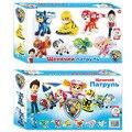 ¡ Caliente!!! 8 Cachorro Perros de Patrulla Juguetes de Anime Estatuilla Coches patrulla canina De Plástico Figura de Acción de Juguete Regalos de Los Niños del bebé niños juguete impresionado
