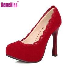 ผู้หญิงบางรองเท้าส้นสูงแพลตฟอร์มแหลมแบรนด์หญิงแฟชั่นเซ็กซี่ส้นรองเท้าส้นปั๊มขนาดบวกใหญ่30-48 P16619