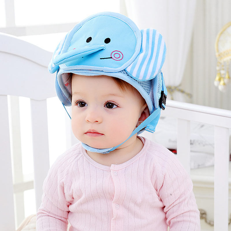 Boys' Baby Clothing Baby Protective Hat Toddler Anti-collision Hat Baby Chin Strap Protective Head Hat Safety Helmet Protective Hat