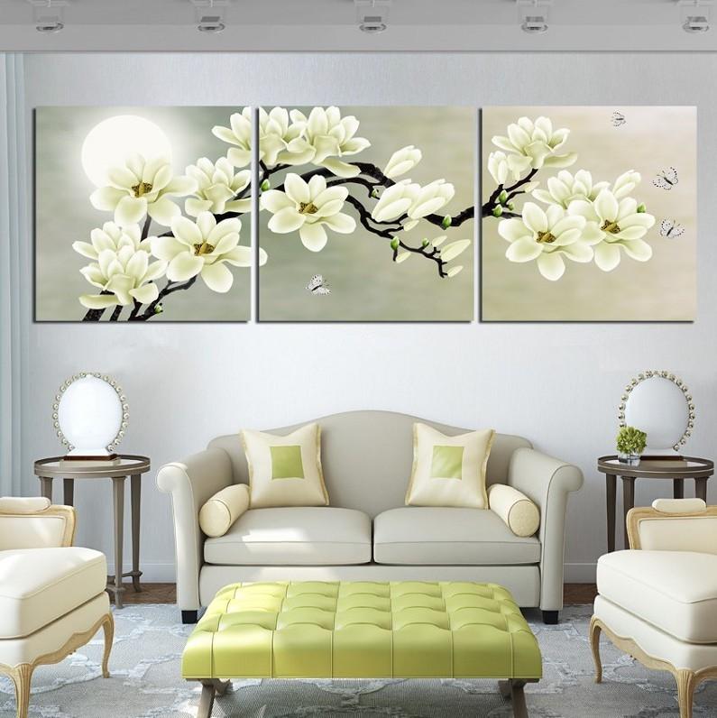 3 шт. настенная живопись белый, как снег воздуха красоты для декор бесплатная доставка отпечатано картина современной картине домашнего декора на холст