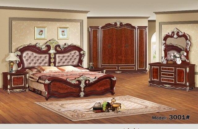 Muebles de dormitorio de lujo juegos de dormitorio muebles de porcelana de lujo seis piezas traje