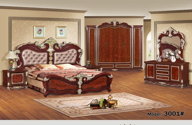luxury bedroom furniture sets bedroom furniture china Deluxe six ...