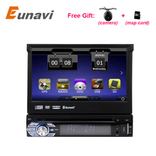 Single 1 Din 7″ Universal Touch screen Car DVD Player With GPS Navi Autoradio Stereo Car Audio TV Bluetooth USB SD +FREE MAPS
