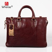Vintage Handmade Top Cowhide Leather Mens Business Briefcase 15 inch Laptop Bag Satchel Crossbody Messenger Bags For Men W092060