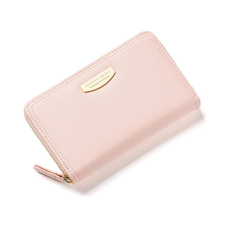 Prettyzys Women Middle Wallets Female Cute Perse Card Holders Coin Child Purses Leather Carteiras Money Bag Cartoon Zipper Gift