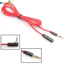 Wholesale price 3.5mm Male to Female Stereo Audio Headphone Aux Extension Cord Cable 1.2m TOP QUALITY free shipping FEB28