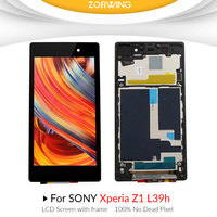 Grade AAA 5.0 LCD For SONY Xperia Z1 LCD display Touch Screen Digitizer Assembly Replacement For SONY Z1 L39H L39 C6903 C6902