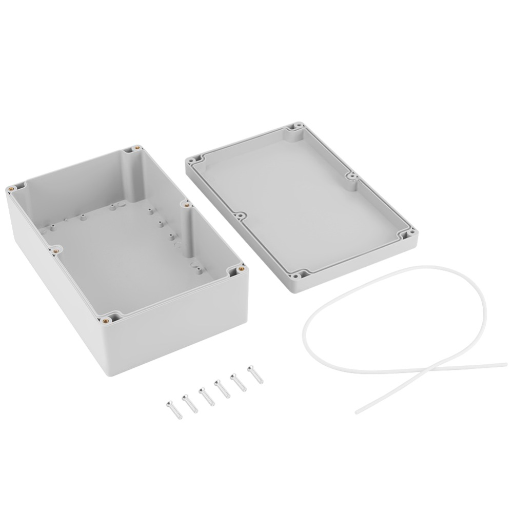 <font><b>230*150*85mm</b></font> Water-resistant White Plastic Enclosure Project Case DIY Junction Box image