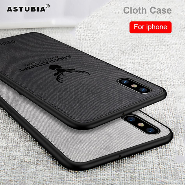 Cloth Deer Soft Coque For IPhone XR XS XS Max X 7 8 9 6 6S Plus Case -  - iphone-case