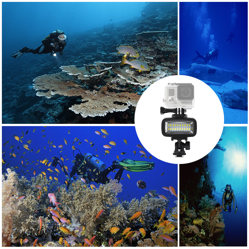 Image 3 - Orsda LED Flash Light Underwater Diving light Waterproof Video light Fill in Lamp For GoPro hero7 SJCAM SJ4000 H9 H9R xiaomi Yi-in Sports Camcorder Cases from Consumer Electronics