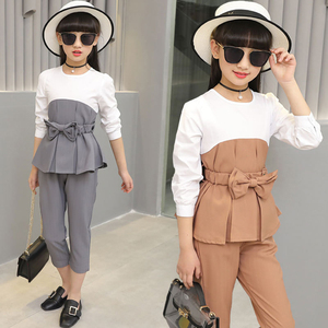 Image 5 - Kids Outfits For Teenage Girls Long Sleeve Clothes Sets Girls School Shirts & Pants Suits Big Size Children Clothing Sets