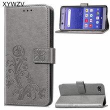 لسوني اريكسون XZ4 المدمجة حالة لينة سيليكون فيلب محفظة للصدمات الهاتف حقيبة حالة حامل بطاقة Fundas لسوني XZ4 المدمجة