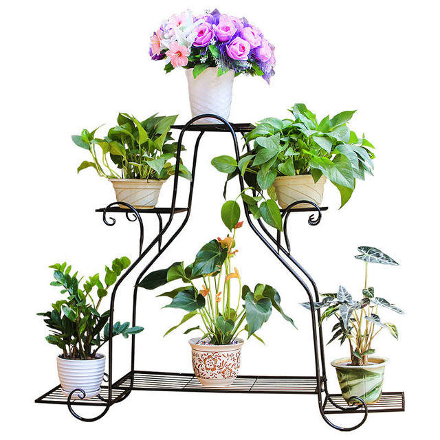 Mensola Porta Piante Support Pour Plante Decor Iron Rack Dekoru Dekorasyon Afscherming Balcon Balcony Flower Balkon Plant Shelf