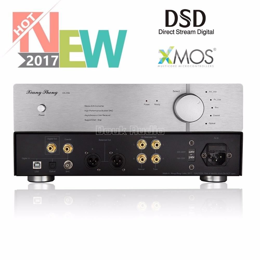 2017 Latest XiangSheng DAC-05B USB HiFi DAC Asynchronous XMOS / Dual AK4495 / DSD Balance Digital Audio Decoder xiangsheng dac 05b asynchronous xmos dual 1794 ak4118 ak4495 dsd balanced decoding xu208 decoder 32bit 384k dsd256