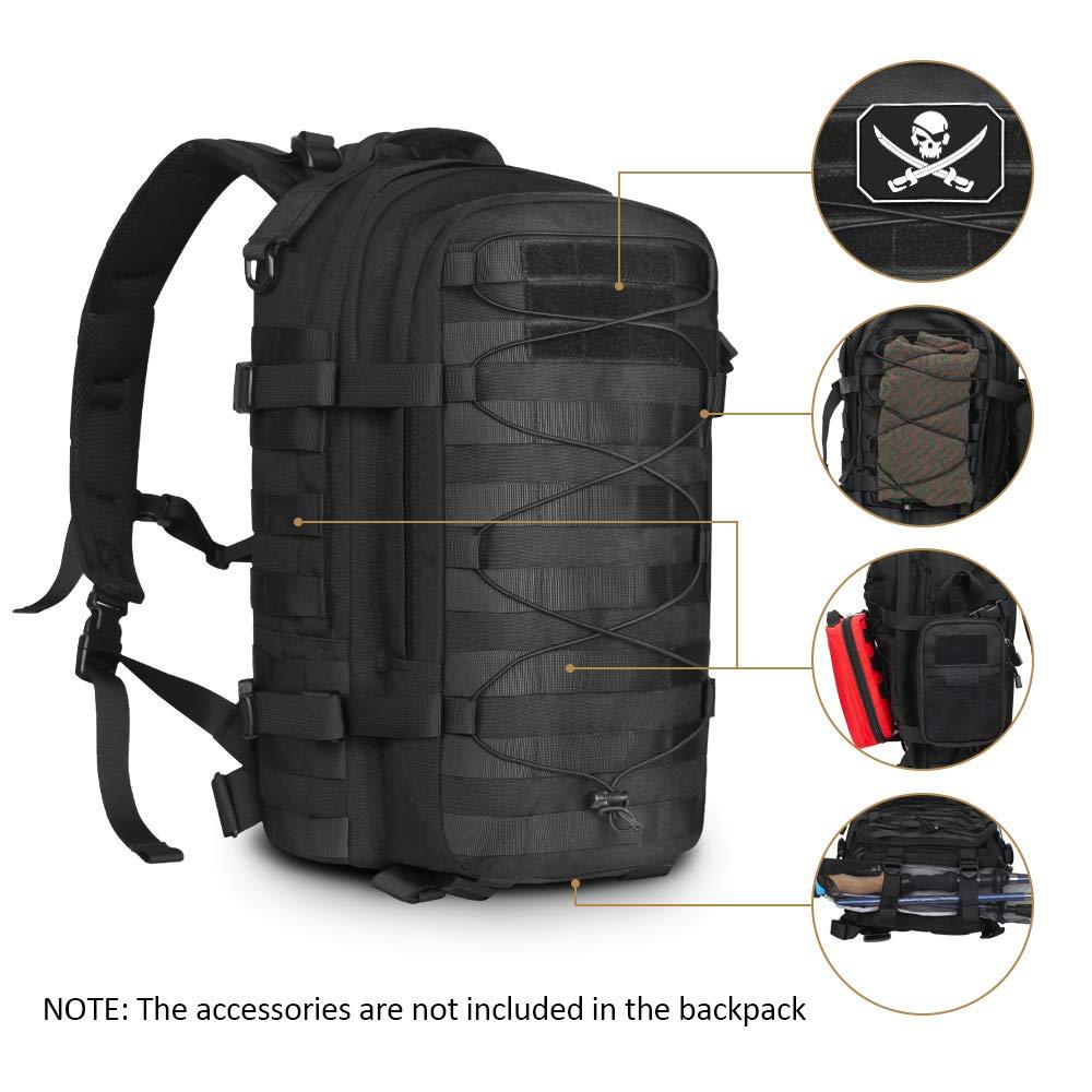 Sac à dos tactique en plein air sac d'assaut militaire armée Molle Bug Out sac 1000D sac à dos en Nylon sac à dos pour Camping randonnée - 2