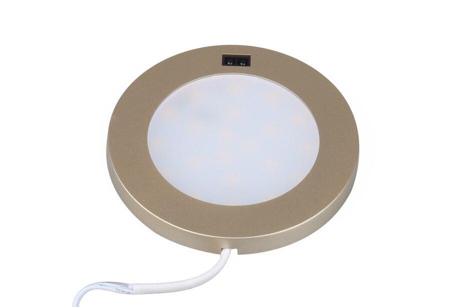 LED Under Cabinet Lights Motion Sensor Round Kitchen Cupboard Lighting Exhibition Bookshelf Furniture Night Light Counter Lamps4